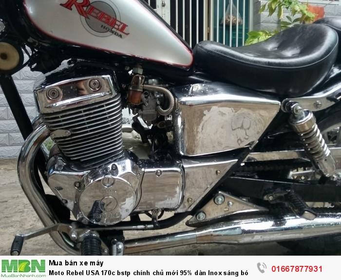 Moto Rebel USA 170c bstp chính chủ mới 95% dàn Inox sáng bóng