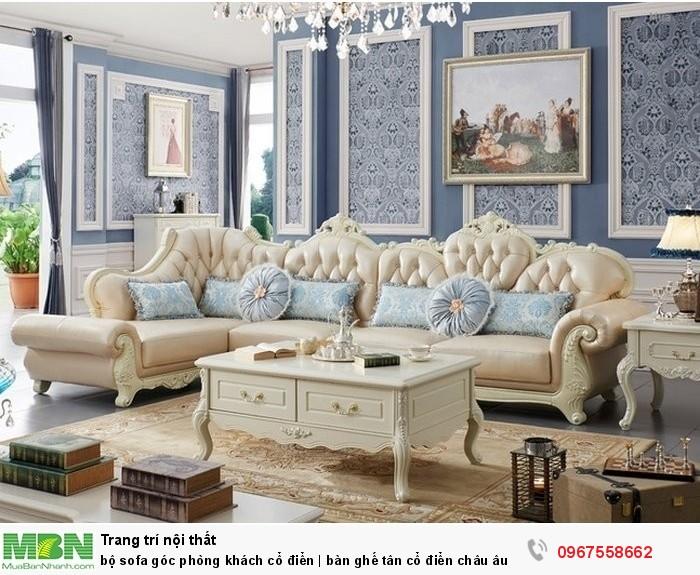 bộ sofa góc l châu âu1