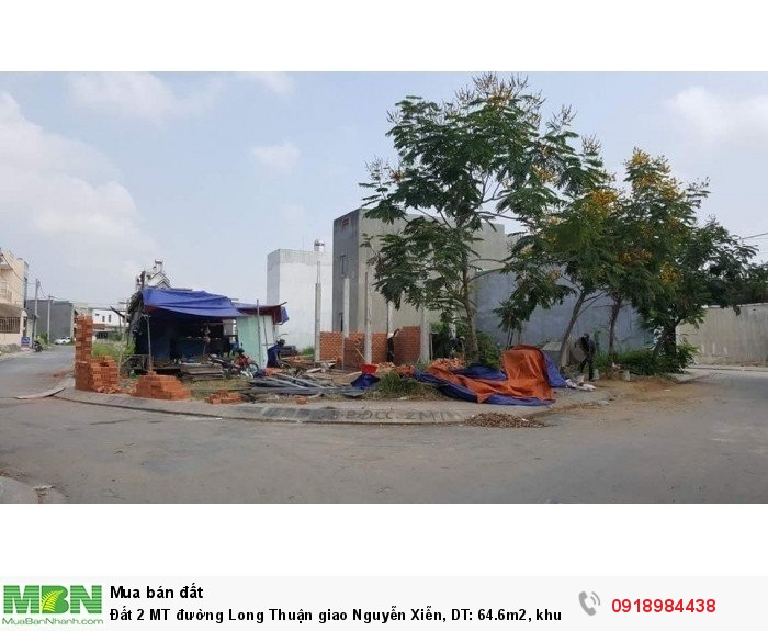 Đất 2 MT đường Long Thuận giao Nguyễn Xiễn, DT: 64.6m2, khu dân trí cao, cạnh Vincity.