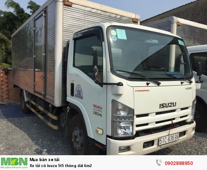 Xe tải cũ isuzu 5t5 thùng dài 6m2 0
