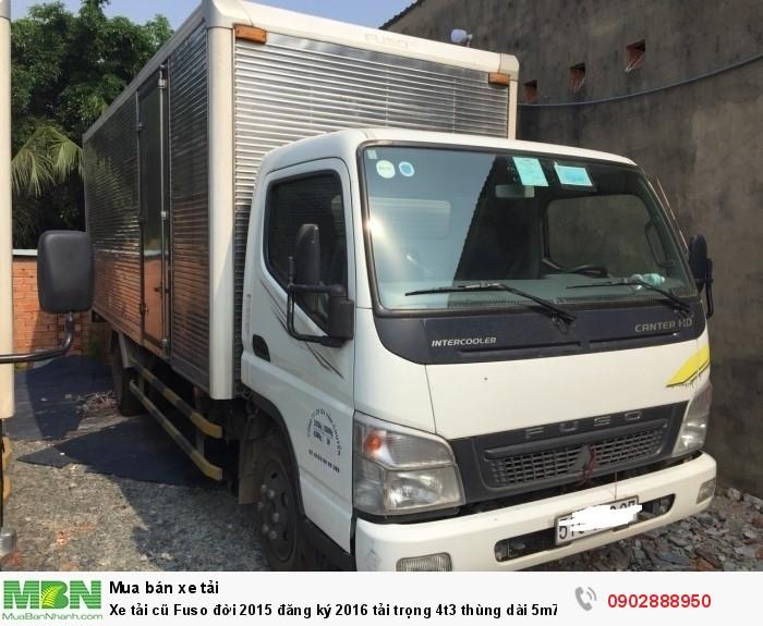 Xe tải cũ Fuso đời 2015 đăng ký 2016 tải trọng 4t3 thùng dài 5m7 1