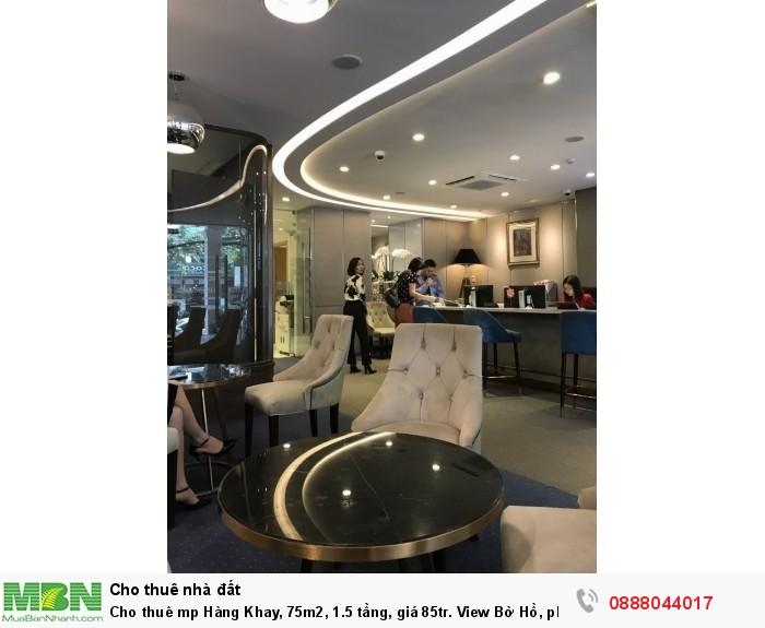 Cho thuê mp Hàng Khay, 75m2, 1.5 tầng, View Bờ Hồ, phố đi bộ.