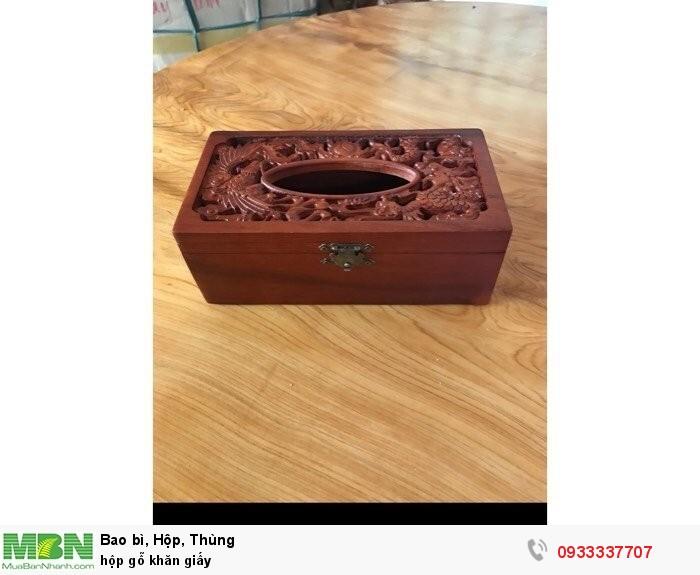 Hộp gỗ khăn giấy0