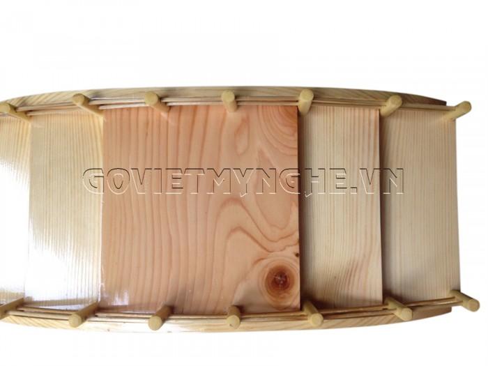 Cầu gỗ 45cm: Dài 45cm x Rộng 19cm x Cao 9.5cm (3 tầng)