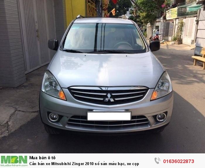 Cần bán xe Mitsubishi Zinger 2010 số sàn màu bạc, xe cọp