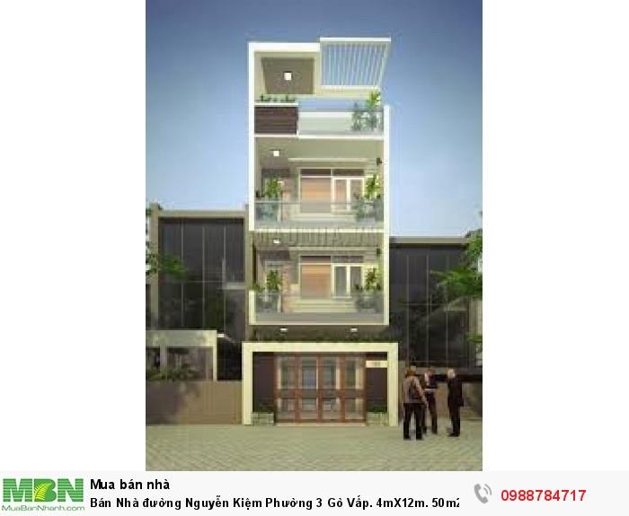 Bán Nhà đường Nguyễn Kiệm Phường 3 Gò Vấp. 4mX12m. 50m2 x 3 lầu, (4,65 tỷ TL)