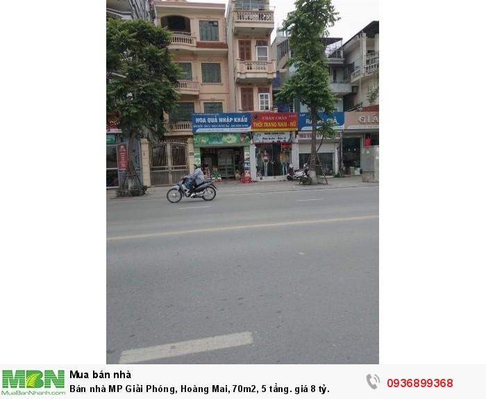 Bán nhà MP Giải Phóng, Hoàng Mai, 70m2, 5 tầng.