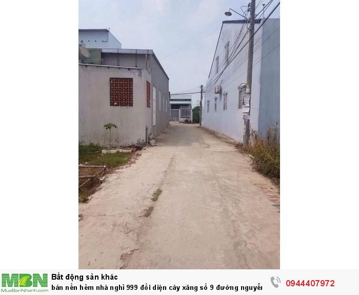 Bán nền hẻm nhà nghỉ 999 đối diện cây xăng số 9 đường Nguyễn Văn Linh