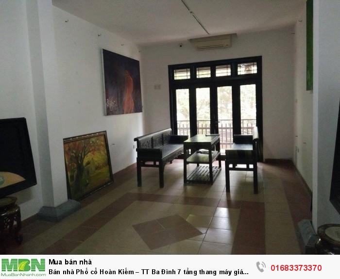 Bán nhà Phố cổ Hoàn Kiếm – TT Ba Đình 7 tầng thang máy giá 250tr/m2 KD cho thuê cực cao