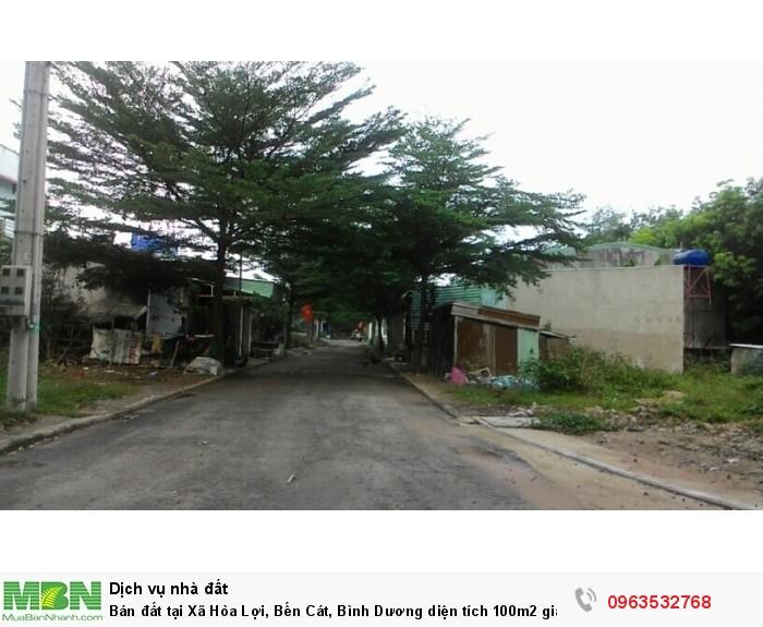 Bán đất tại Xã Hòa Lợi, Bến Cát,  Bình Dương diện tích 100m2  giá 10 Triệu/m²