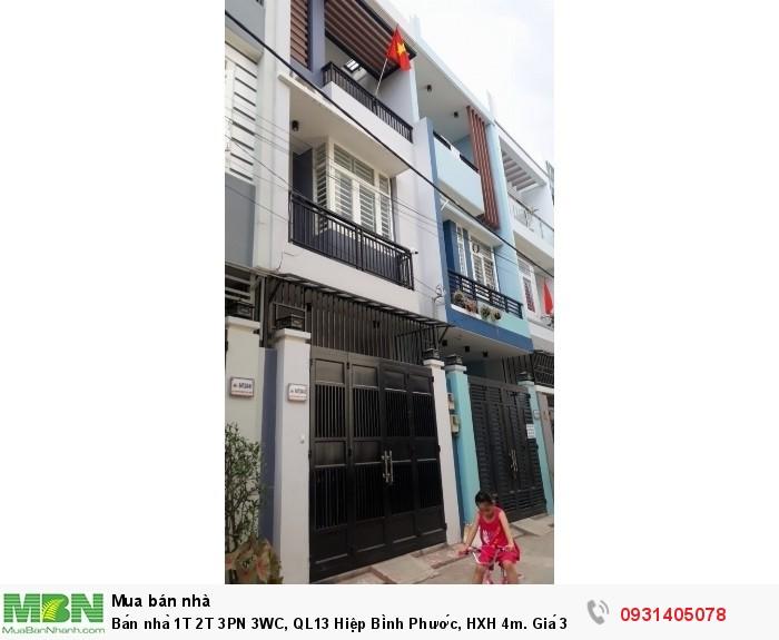 Bán nhà 1T 2T 3PN 3WC, QL13 Hiệp Bình Phước, HXH 4m