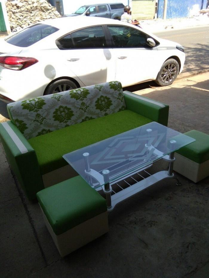 Ghế sofa xanh0