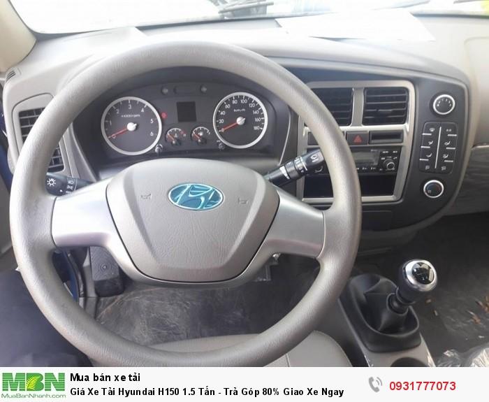 Giá xe tải Hyundai H150 1.5 tấn - Đăng ký đăng kiểm ra biển số từ Nha trang vào đến Cà mau