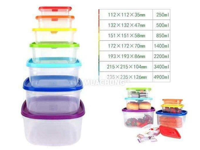 Bộ hộp nhựa 7 món cao cấp tiện dụng4