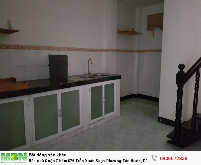 Bán nhà Quận 7 hẻm 675 Trần Xuân Soạn Phường Tân Hưng,  DT : 43m2, Giá :3.05 Tỷ