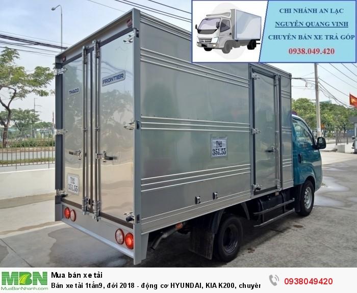 Xe Tải Thaco Kia K200 - Tải Trọng 1tấn9 - Mới nhất - Động Cơ HYUNDAI - Hổ Trợ Trả Góp 3