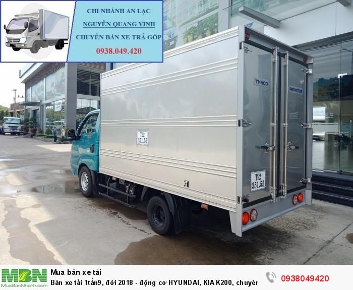 Xe Tải Thaco Kia K200 - Tải Trọng 1tấn9 - Mới nhất - Động Cơ HYUNDAI - Hổ Trợ Trả Góp 4