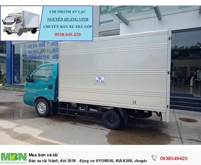 Xe Tải Thaco Kia K200 - Tải Trọng 1tấn9 - Mới nhất - Động Cơ HYUNDAI - Hổ Trợ Trả Góp 5