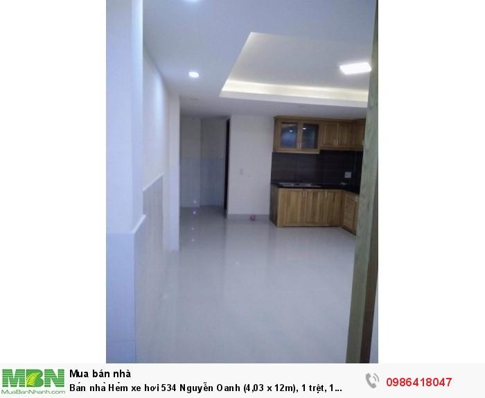 Bán nhà Hẻm xe hơi 534 Nguyễn Oanh (4,03 x 12m),