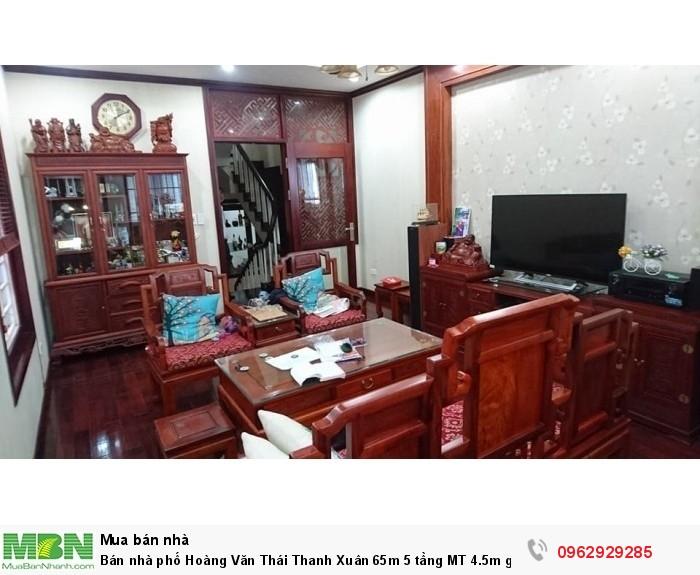 Bán nhà phố Hoàng Văn Thái Thanh Xuân 65m 5 tầng MT 4.5m giá 10.38 tỷ có thang máy.