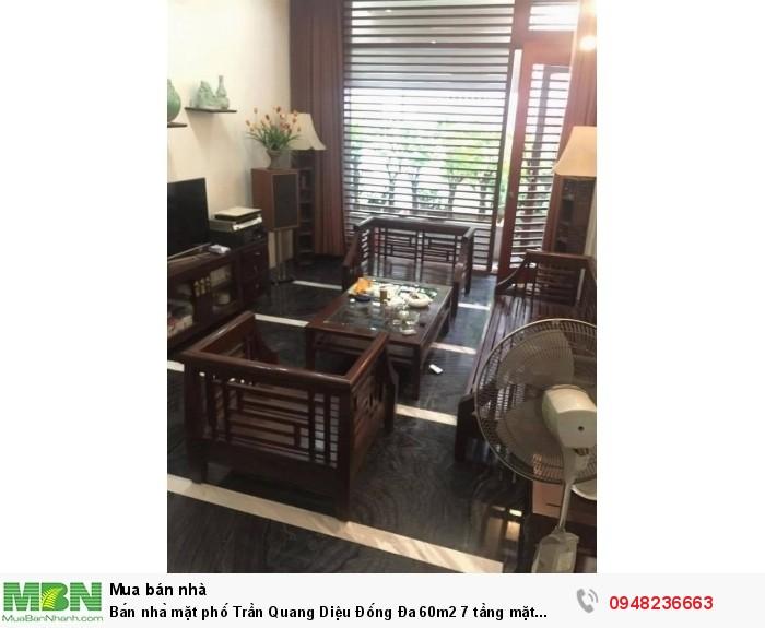 Bán nhà mặt phố Trần Quang Diệu Đống Đa 60m2 7 tầng mặt tiền 4m 18 tỷ
