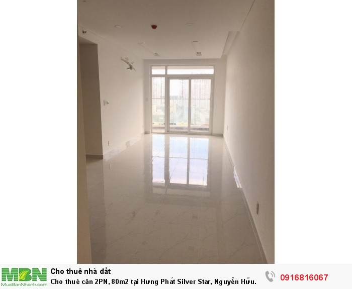 Cho thuê căn 2PN, 80m2 tại Hưng Phát Silver Star, Nguyễn Hữu Thọ, Liền kề ĐH Tôn Đức Thắng