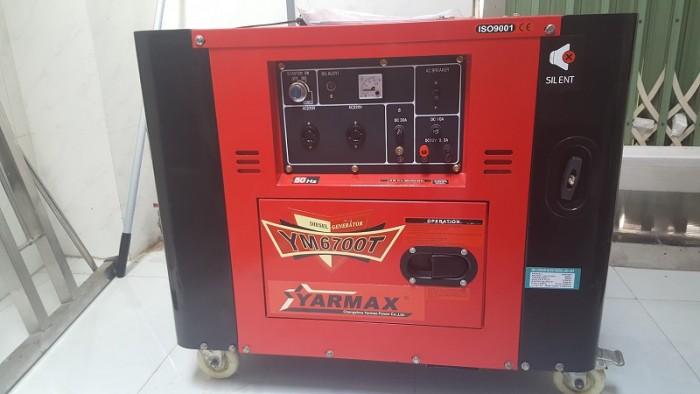 Máy phát điện chạy dầu diesel 4,5kW Yarmax ,động cơ 4 thì sản xuất tại Trung Quốc giá rẻ