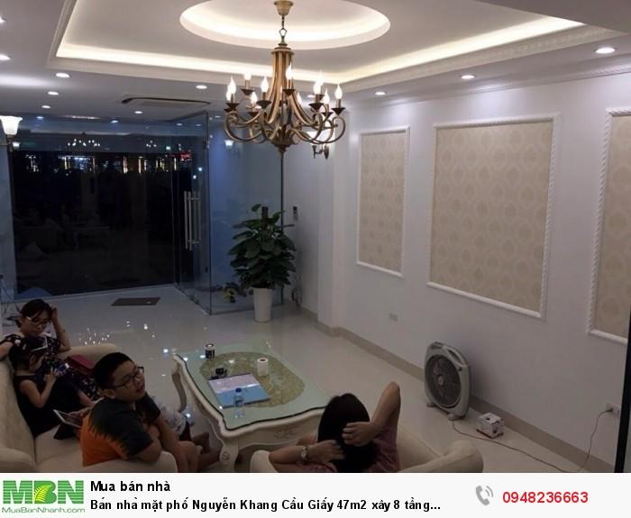 Bán nhà mặt phố Nguyễn Khang Cầu Giấy 47m2 xây 8 tầng mặt tiền 3,7m 17 tỷ