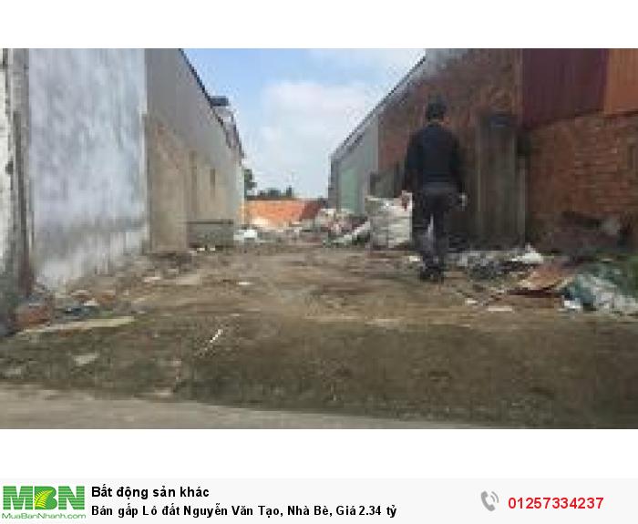 Bán gấp Lô đất Nguyễn Văn Tạo, Nhà Bè