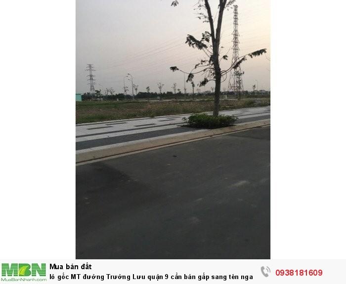 Lô gốc MT đường Trường Lưu quận 9 cần bán gấp sang tên ngay trong tuần