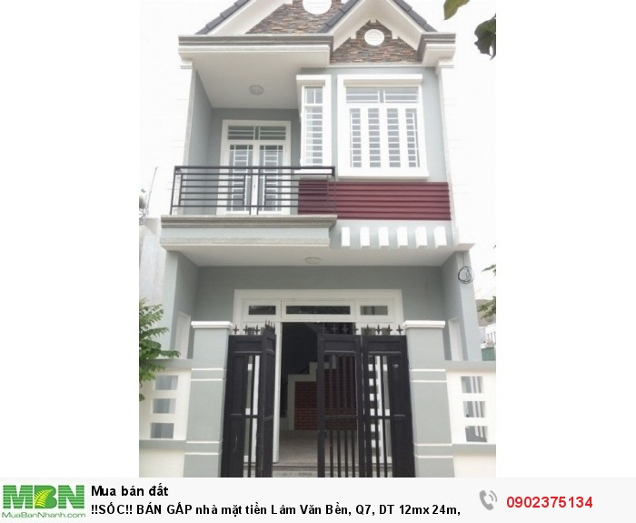 Nhà mặt tiền Lâm Văn Bền, Q7, DT 12mx 24m, SHR, giá 3,5 tỷ