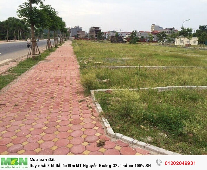 Duy nhất 3 lô đất 5x19m MT Nguyễn Hoàng Q2. Thổ cư 100%.SHR