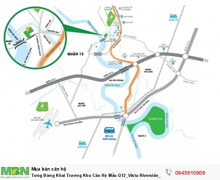 Tưng Bừng Khai Trương Khu Căn Hộ Mẫu Q12_Vista Riverside_Ck 10%_Giá 660 Tr/Căn View 3 Mặt Sông