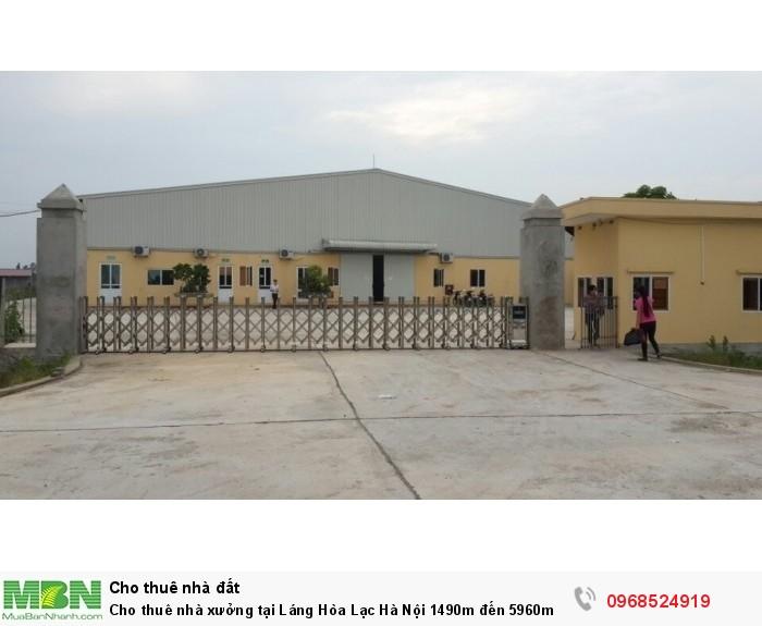 Cho thuê nhà xưởng tại Láng Hòa Lạc Hà Nội 1490m đến 5960m giá rẻ có nhà VP, nhà ăn, để xe