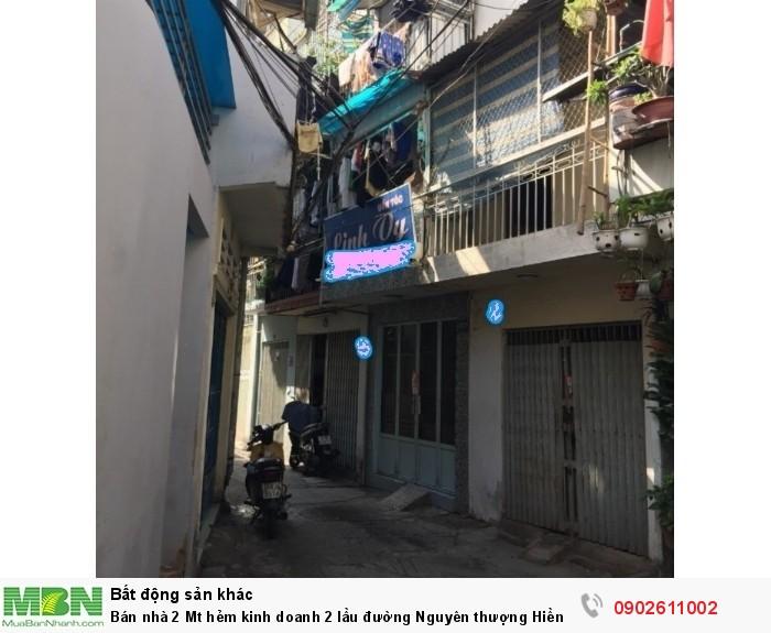 Bán nhà 2 Mt hẻm kinh doanh 2 lầu đường Nguyên thượng Hiền,Bình Thạnh giá 1.35 tỷ.
