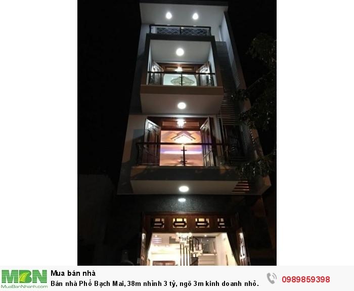 Bán nhà Phố Bạch Mai, 38m nhỉnh 3 tỷ, ngõ 3m kinh doanh nhỏ.