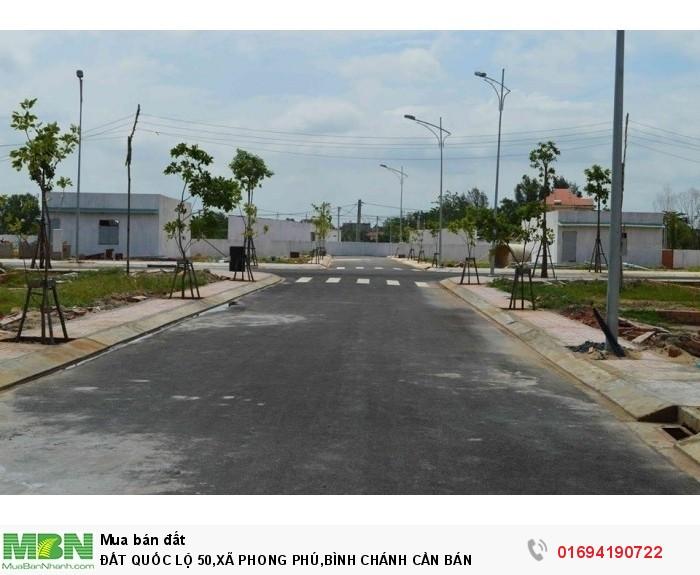 Đất Quốc Lộ 50,xã Phong Phú,bình Chánh Cần Bán