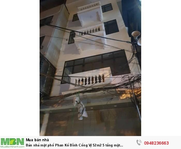 Bán nhà mặt phố Phan Kế Bính Cống Vị 52m2 5 tầng mặt tiền 5,3m giá 13 tỷ
