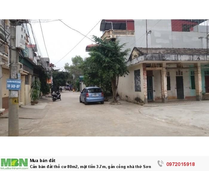 Cần bán đất thổ cư 80m2, mặt tiền 3.7m, gần cổng nhà thờ Sơn Lộc, Sơn Tây