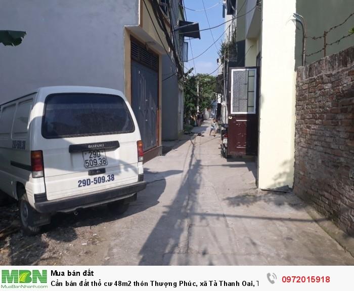 Cần bán đất thổ cư 48m2 thôn Thượng Phúc, xã Tả Thanh Oai, Thanh Trì