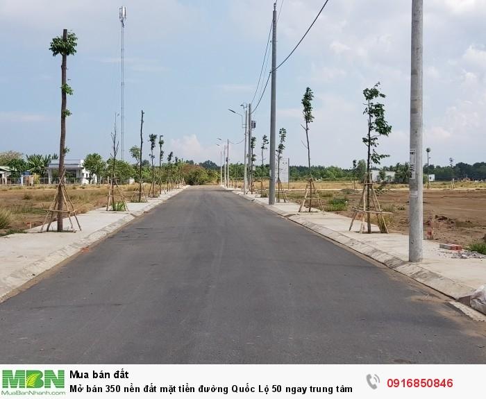 Mở bán 350 nền đất mặt tiền đường Quốc Lộ 50 ngay trung tâm hành chính - LOTUS GARDEN