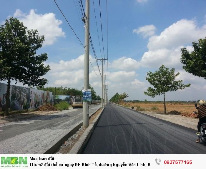 Đất thổ cư ngay ĐH Kinh Tế, đường Nguyễn Văn Linh, Bình Chánh, SHR