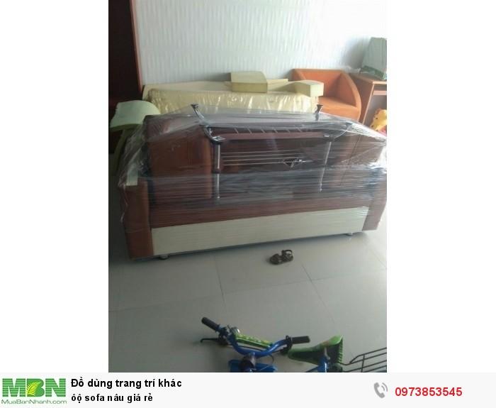 ộ sofa nâu giá rẻ0