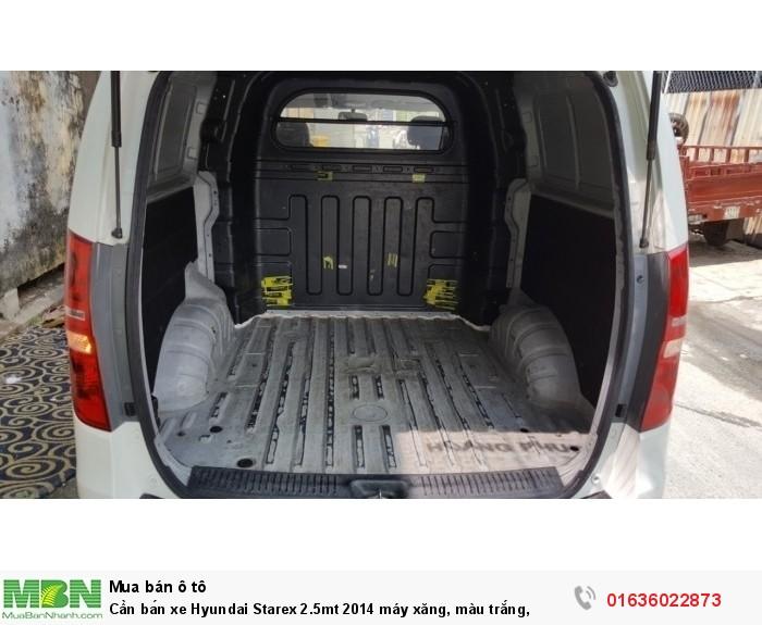 Cần bán xe Hyundai Starex 2.5mt 2014 máy xăng, màu trắng,