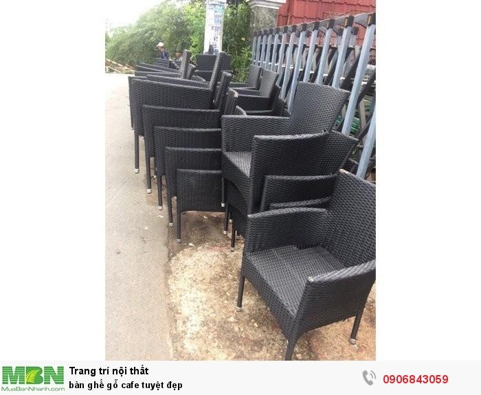 Bàn ghế gỗ cafe tuyệt đẹp2