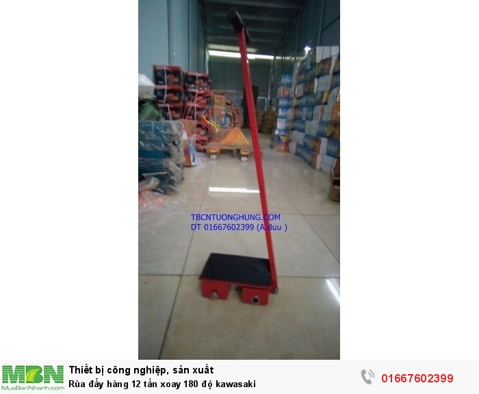 Rùa đẩy hàng 12 tấn xoay 180 độ kawasaki