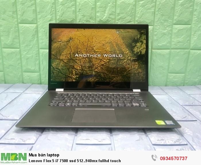 Lenovo Flex 5 i7 7500 ssd 512..940mx fullhd touch0