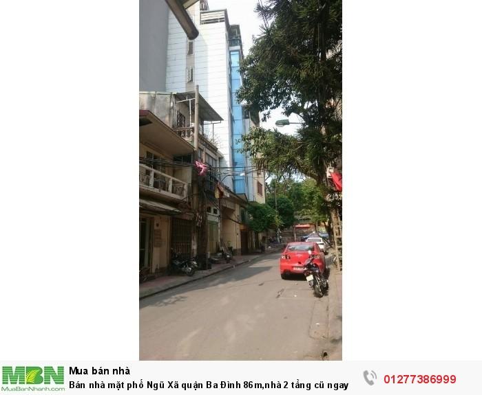 Bán nhà mặt phố Ngũ Xã quận Ba Đình 86m,nhà 2 tầng cũ ngay gần hồ trúc bạch