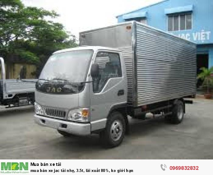 Bán xe Jac tải nhẹ, 3.5t, lãi suất thấp