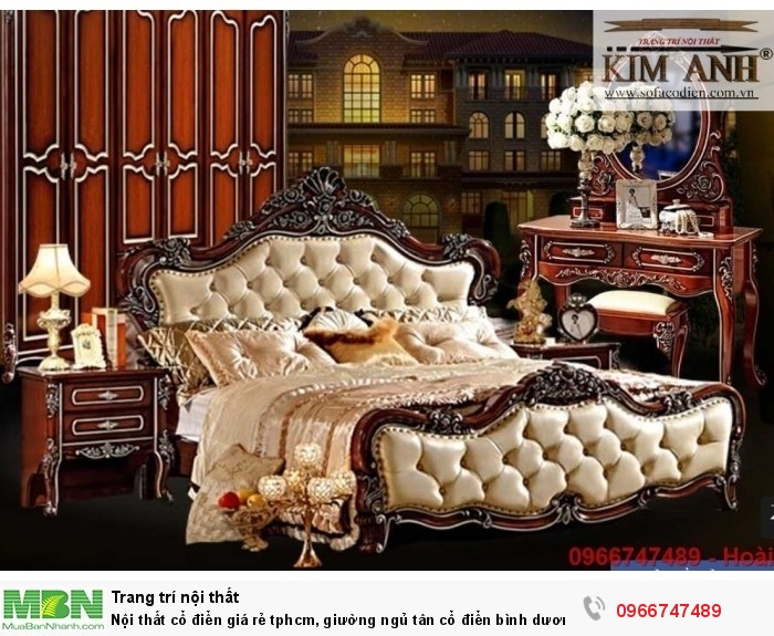 giường ngủ cổ điển cần thơ4